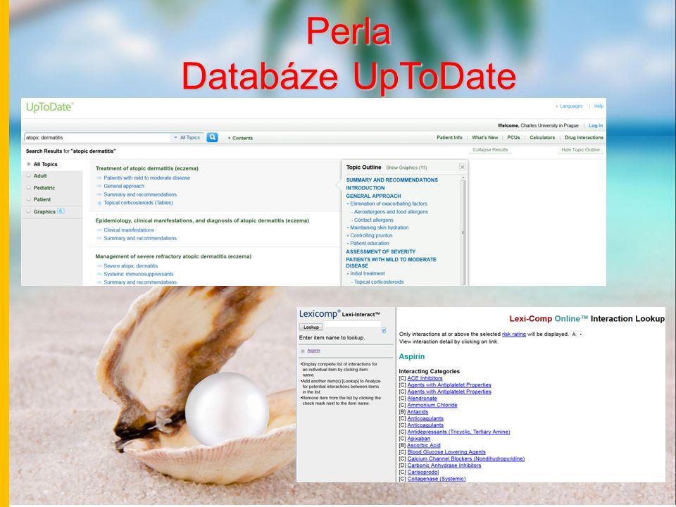 Perla Databáze UpToDate