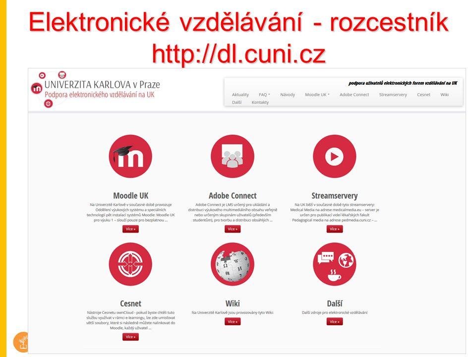 Elektronické vzdělávání - rozcestník http://dl.cuni.cz