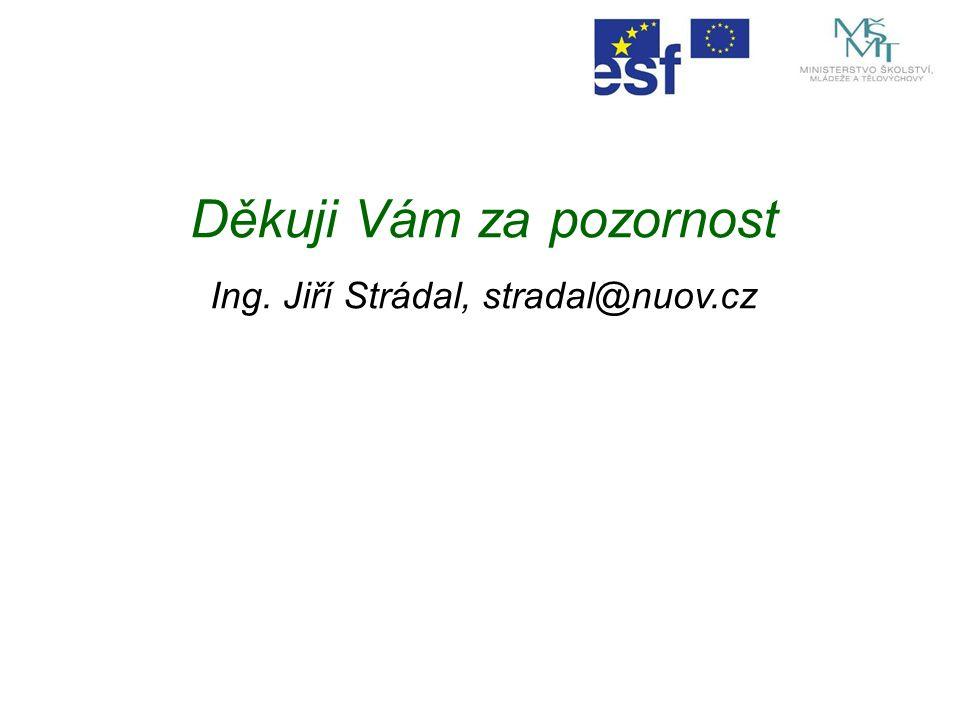 Děkuji Vám za pozornost Ing. Jiří Strádal, stradal@nuov.cz