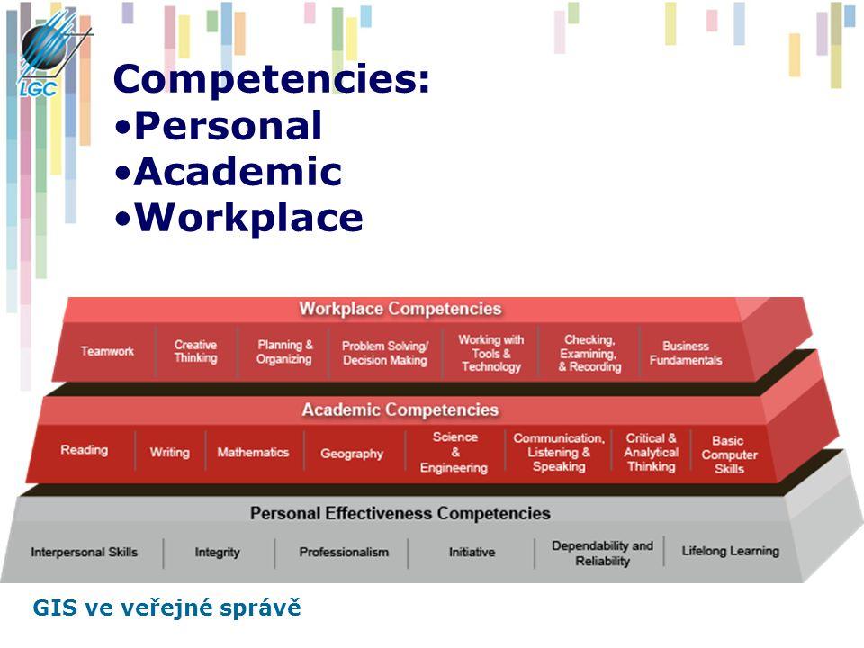 GIS ve veřejné správě Competencies: Personal Academic Workplace