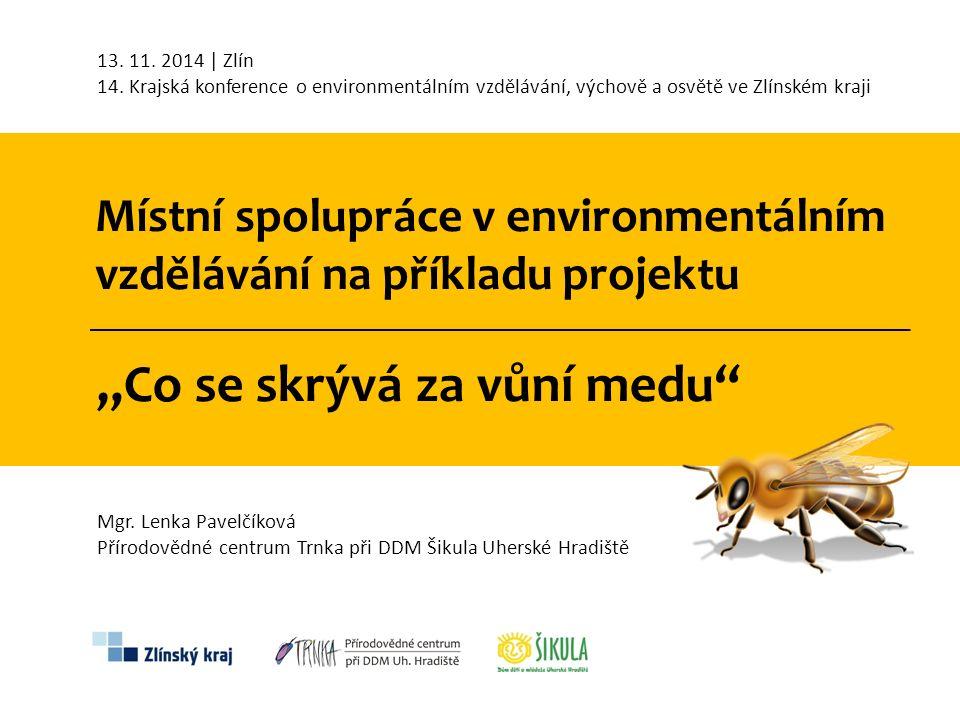 """Místní spolupráce v environmentálním vzdělávání na příkladu projektu """"Co se skrývá za vůní medu  Zhoršení zavčelení krajiny a opylovací schopnosti hmyzu z důvodu velkoplošné struktury krajiny a nedostatku přírodních biotopů vhodných k hnízdění běžných druhů opylovatelů."""