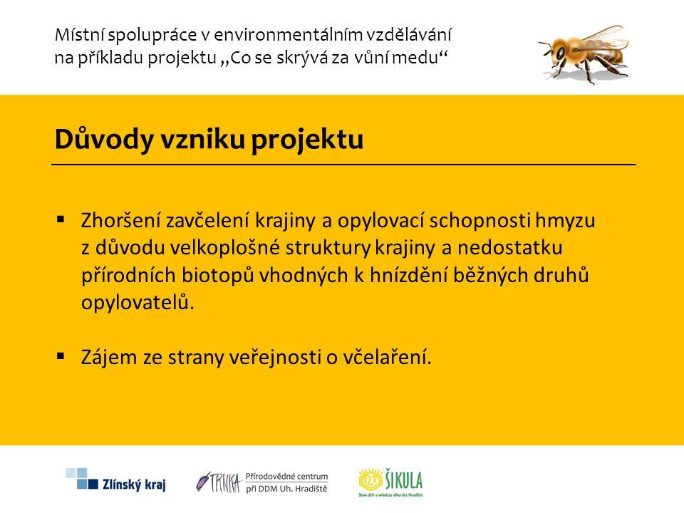 """Místní spolupráce v environmentálním vzdělávání na příkladu projektu """"Co se skrývá za vůní medu""""  Zhoršení zavčelení krajiny a opylovací schopnosti h"""