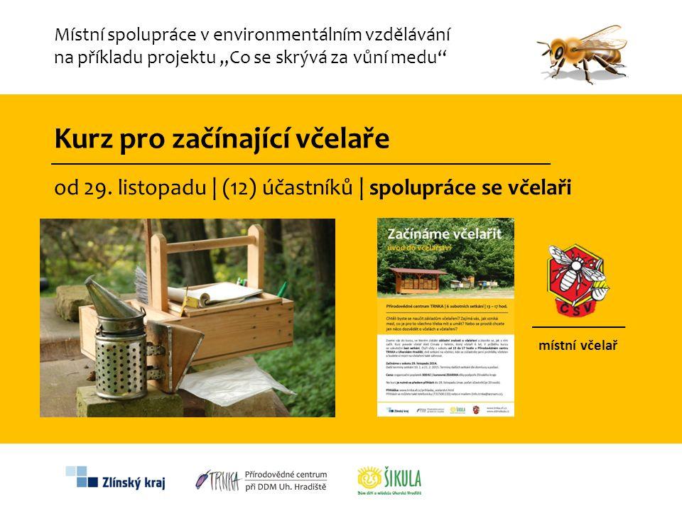 Kurz pro začínající včelaře od 29. listopadu | (12) účastníků | spolupráce se včelaři místní včelař Místní spolupráce v environmentálním vzdělávání na