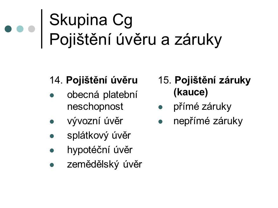Skupina Cg Pojištění úvěru a záruky 14.