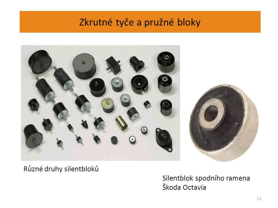 Zkrutné tyče a pružné bloky 11 Různé druhy silentbloků Silentblok spodního ramena Škoda Octavia