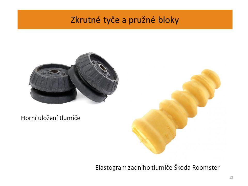 Zkrutné tyče a pružné bloky 12 Horní uložení tlumiče Elastogram zadního tlumiče Škoda Roomster