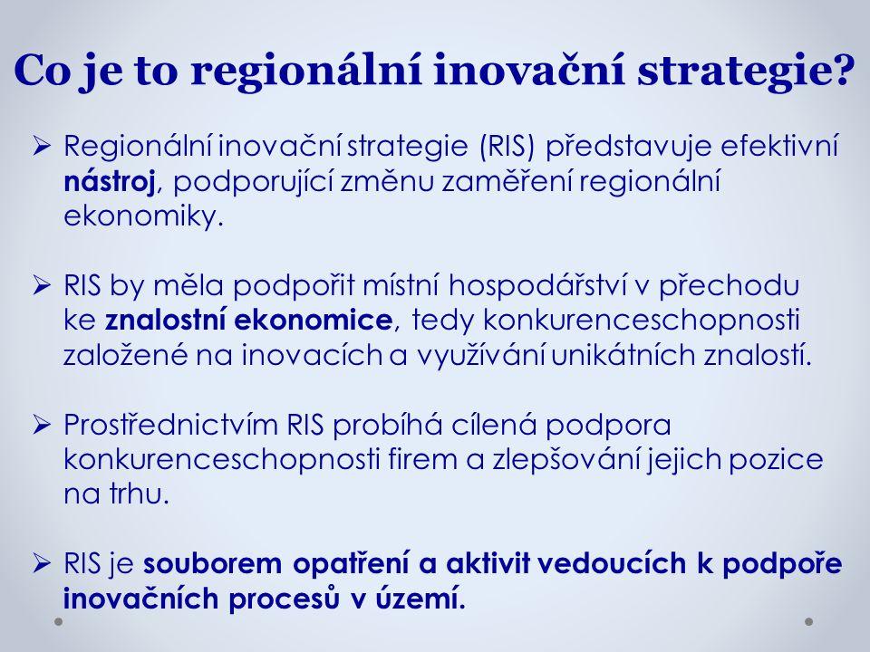  Regionální inovační strategie (RIS) představuje efektivní nástroj, podporující změnu zaměření regionální ekonomiky.  RIS by měla podpořit místní ho