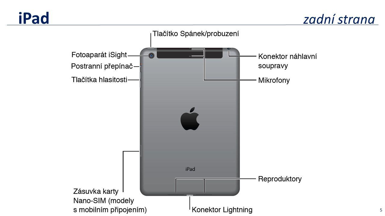 iPad zadní strana 5