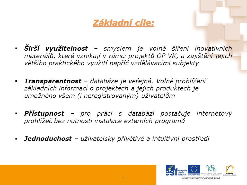 Ochrana práv duševního vlastnictví: Nahrávány projekty a jejich produkty s již ukončenou realizací.