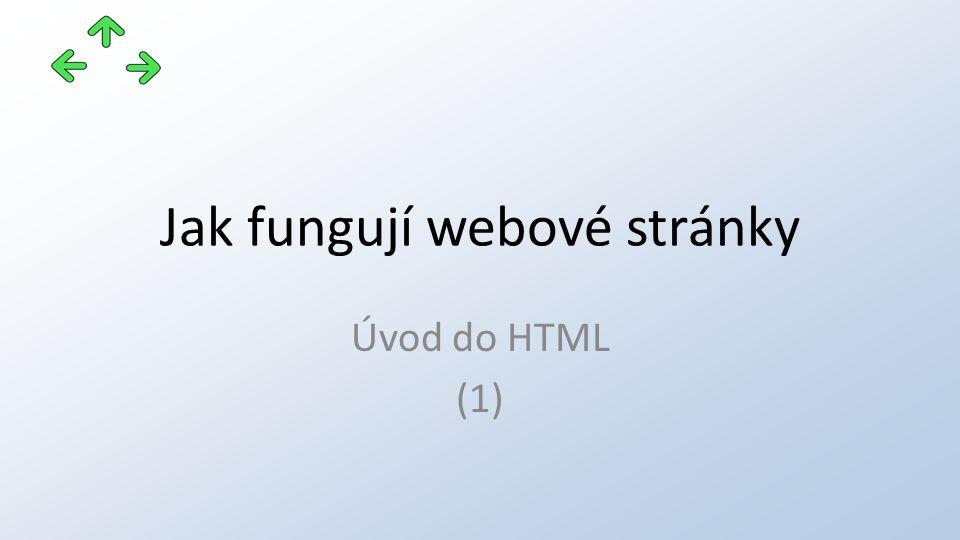 Jak fungují webové stránky Úvod do HTML (1)