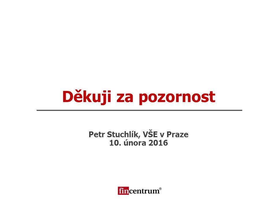 Děkuji za pozornost Petr Stuchlík, VŠE v Praze 10. února 2016