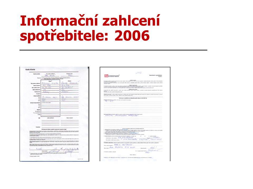 Informační zahlcení spotřebitele: 2006