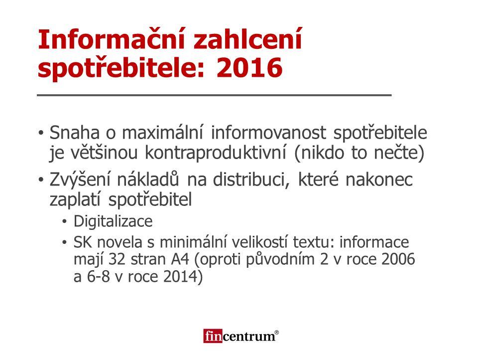 Snaha o maximální informovanost spotřebitele je většinou kontraproduktivní (nikdo to nečte) Zvýšení nákladů na distribuci, které nakonec zaplatí spotř