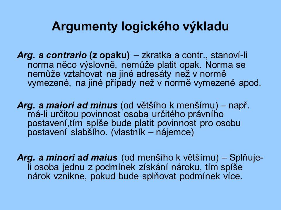 Argumenty logického výkladu Arg.