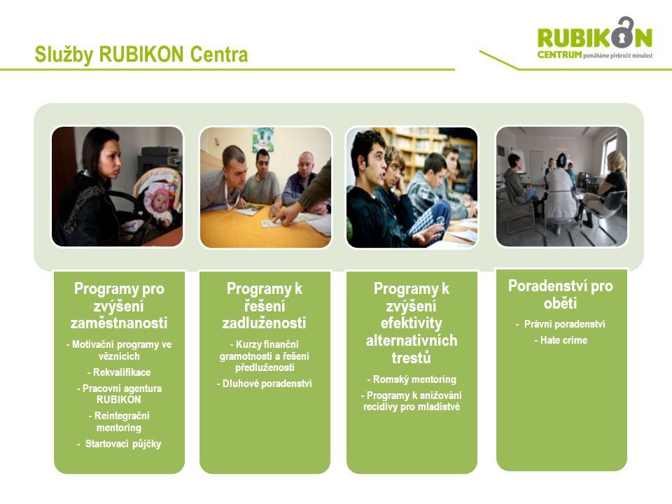 Služby RUBIKON Centra Programy pro zvýšení zaměstnanosti - Motivační programy ve věznicích - Rekvalifikace - Pracovní agentura RUBIKON - Reintegrační
