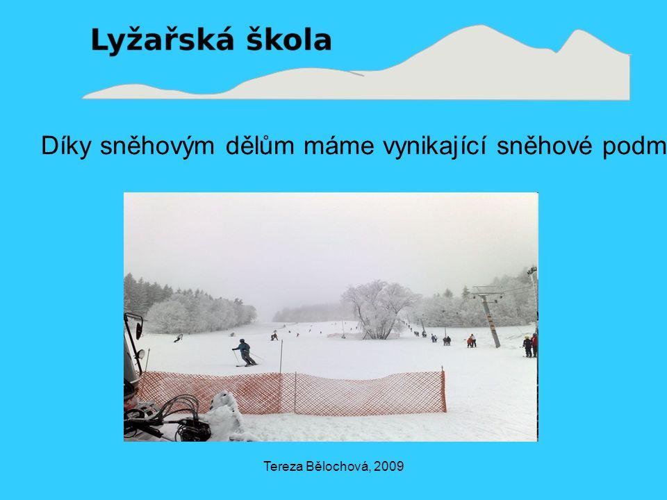 Tereza Bělochová, 2009 Díky sněhovým dělům máme vynikající sněhové podmínky po celou zimu