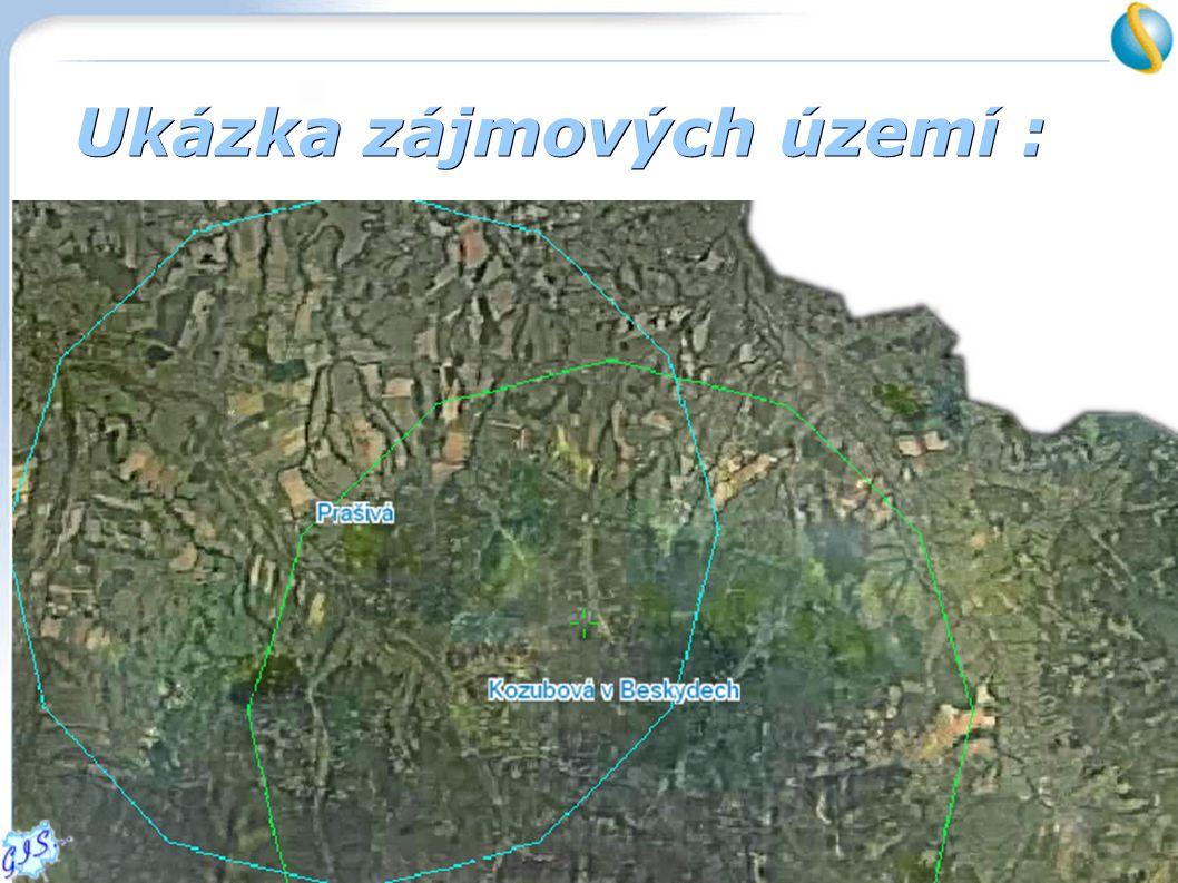 Ukázka zájmových území :