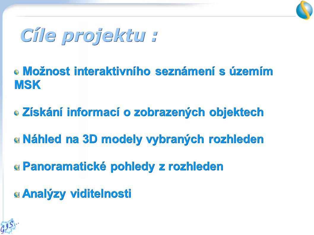 3D modely rozhleden 2D textové popisky 2D textové popisky 2D grafické popisky 2D grafické popisky Modelování objektů :