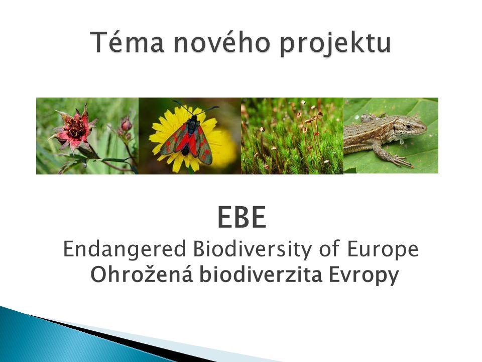 1) Výskyt ohrožených druhů rostlin a živočichů v regionech partnerských škol.