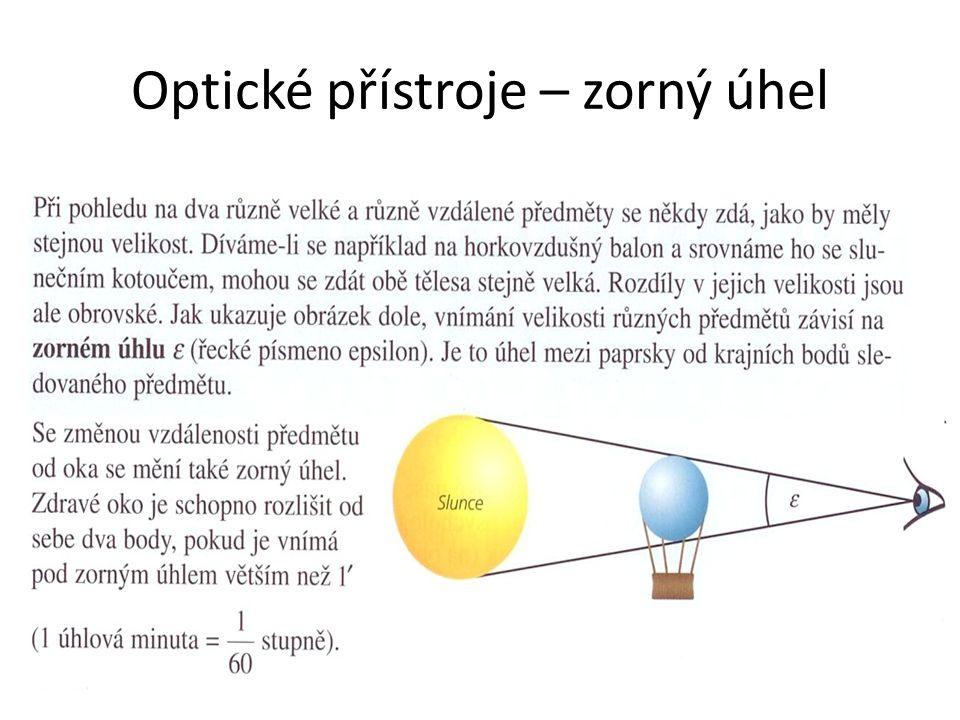 Optické přístroje – zorný úhel