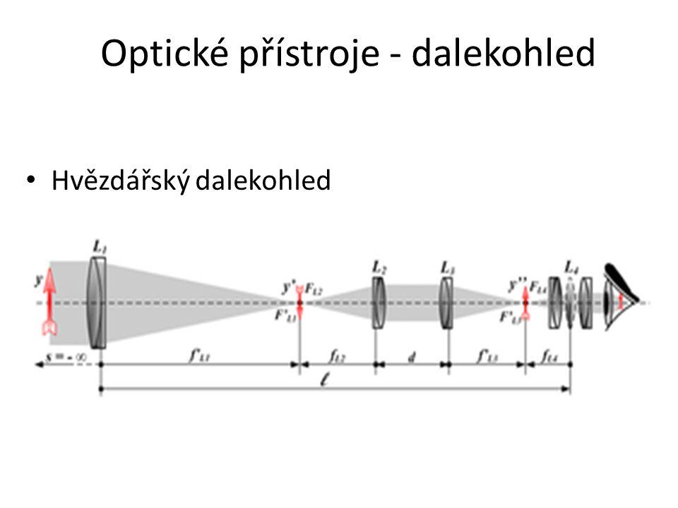 Optické přístroje - dalekohled Hvězdářský dalekohled