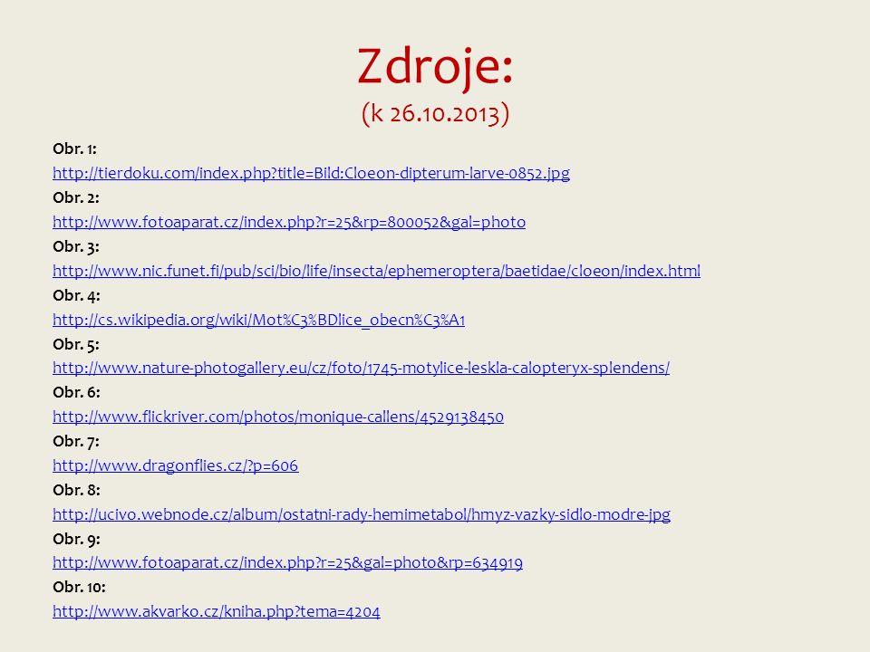 Zdroje: (k 26.10.2013) Obr.