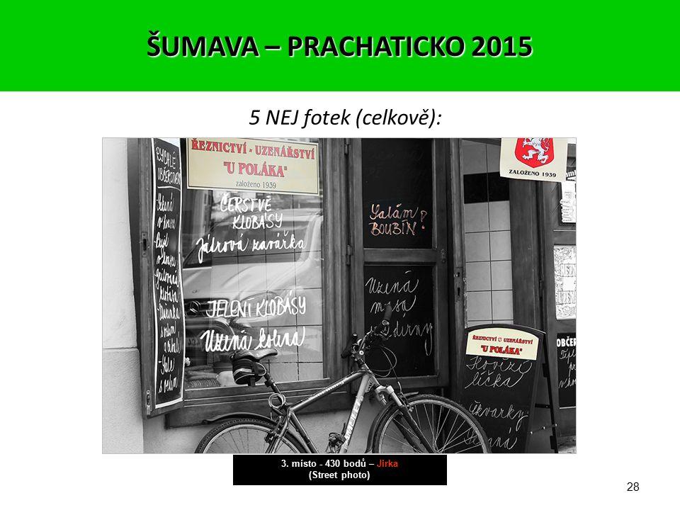 27 5 NEJ fotek (celkově): 4.-5. místo - 429 bodů – Kuba (Street photo) ŠUMAVA – PRACHATICKO 2015