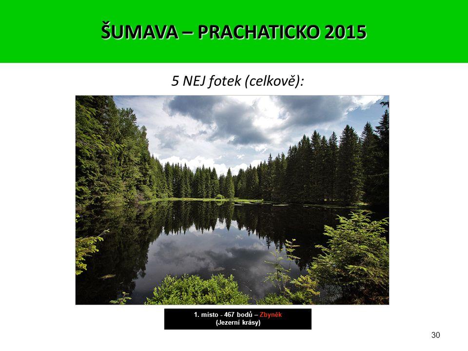 29 5 NEJ fotek (celkově): 2. místo - 436 bodů – Zbyněk (Skály a kameny) ŠUMAVA – PRACHATICKO 2015