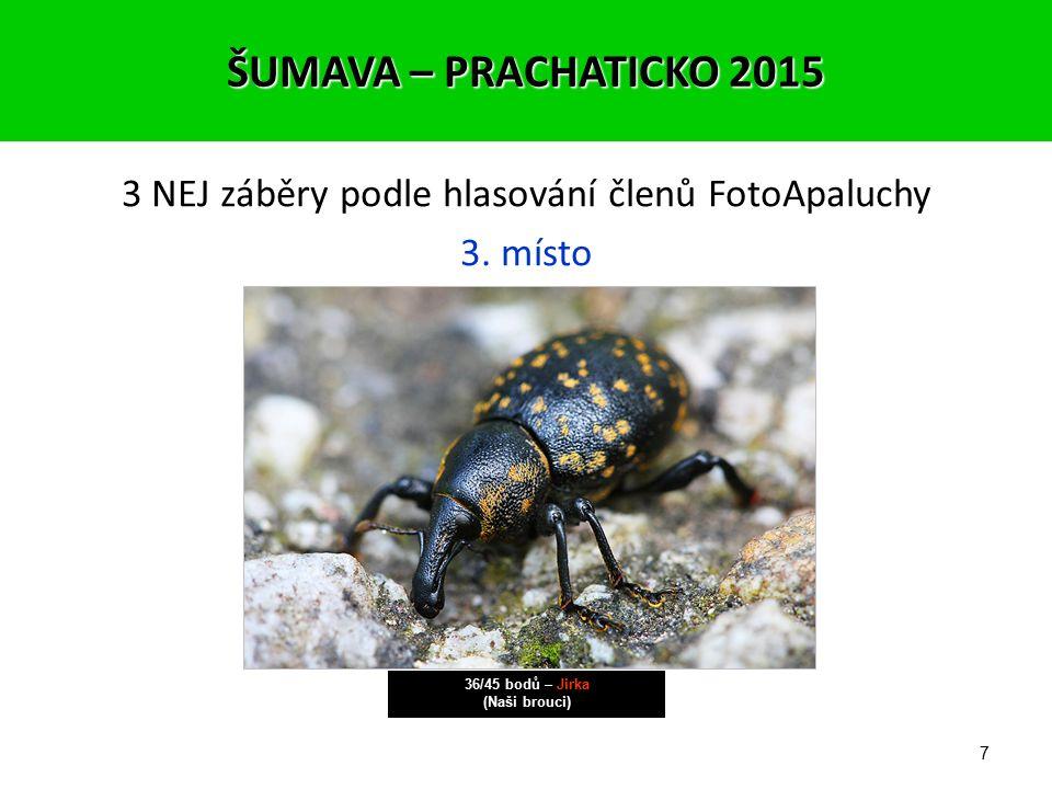 6 o HLASOVÁNÍ ČLENŮ FOTOAPALUCHY ŠUMAVA – PRACHATICKO 2015