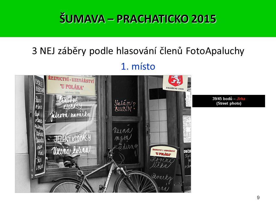 8 3 NEJ záběry podle hlasování členů FotoApaluchy 2. místo 37/45 bodů – Pavel (Fotograf na cestách) ŠUMAVA – PRACHATICKO 2015