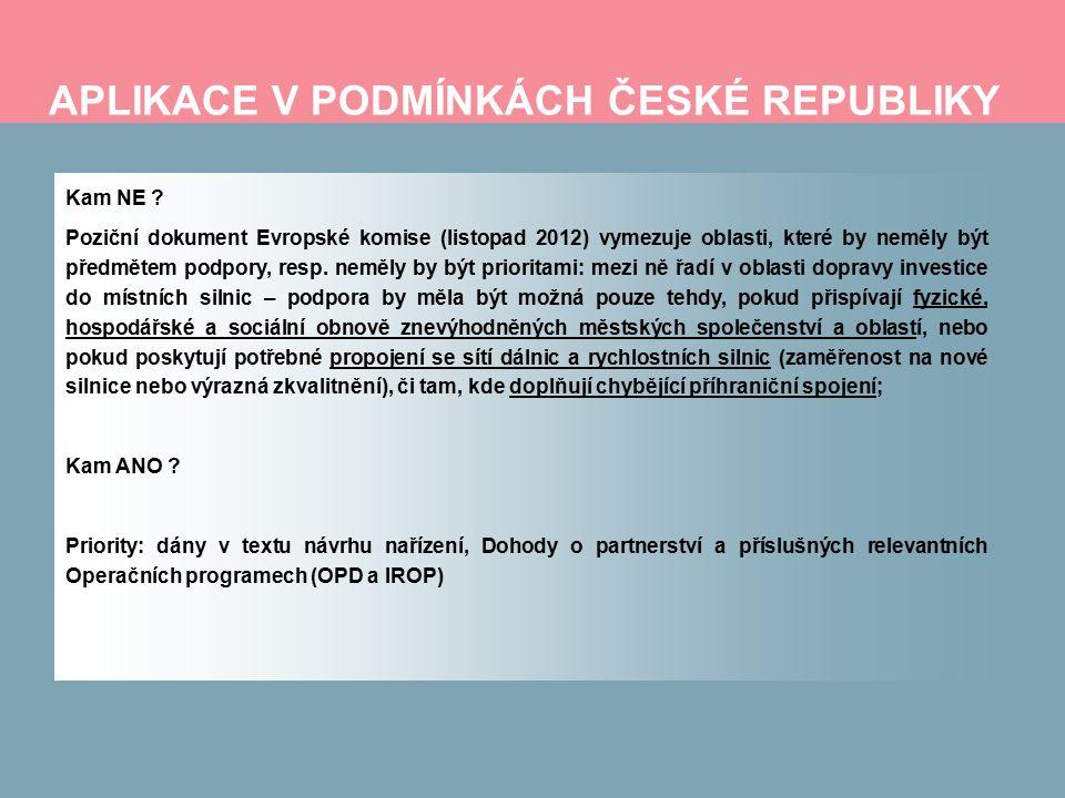 APLIKACE V PODMÍNKÁCH ČESKÉ REPUBLIKY Kam NE .