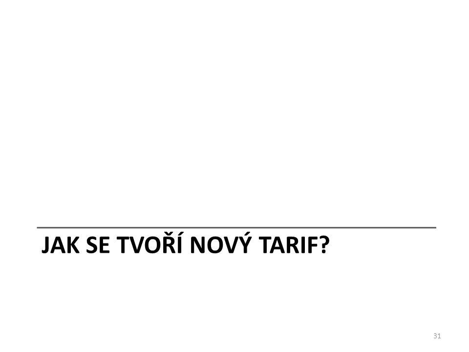 JAK SE TVOŘÍ NOVÝ TARIF 31