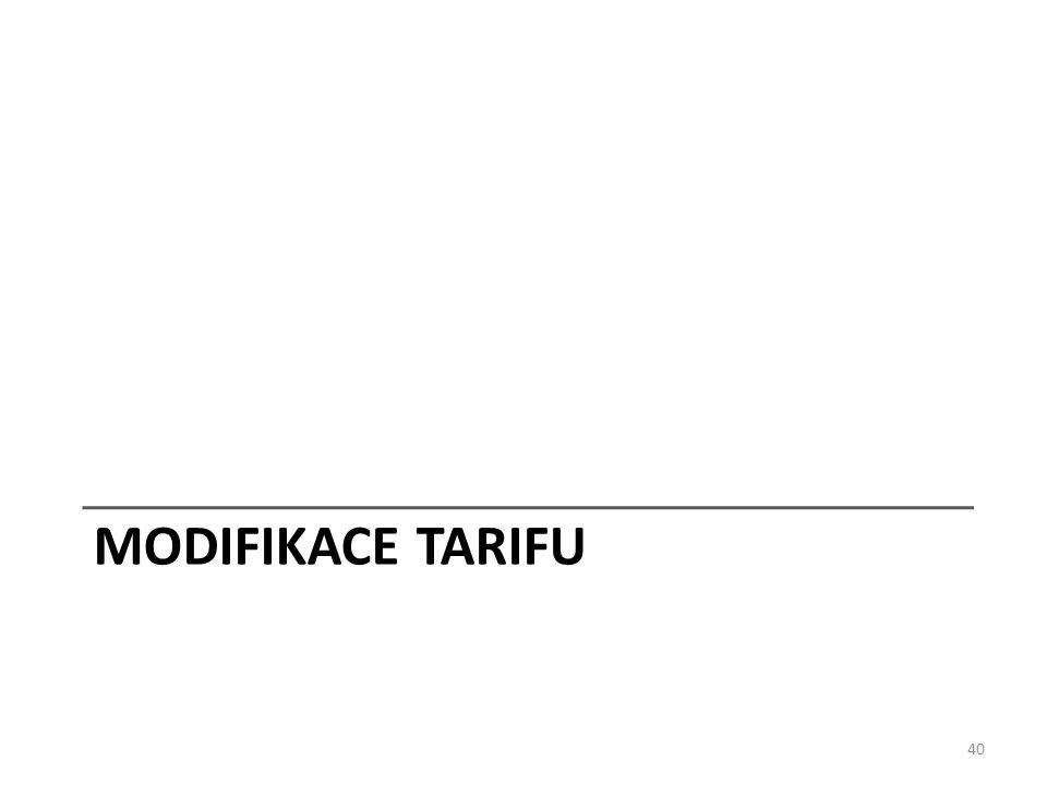 MODIFIKACE TARIFU 40