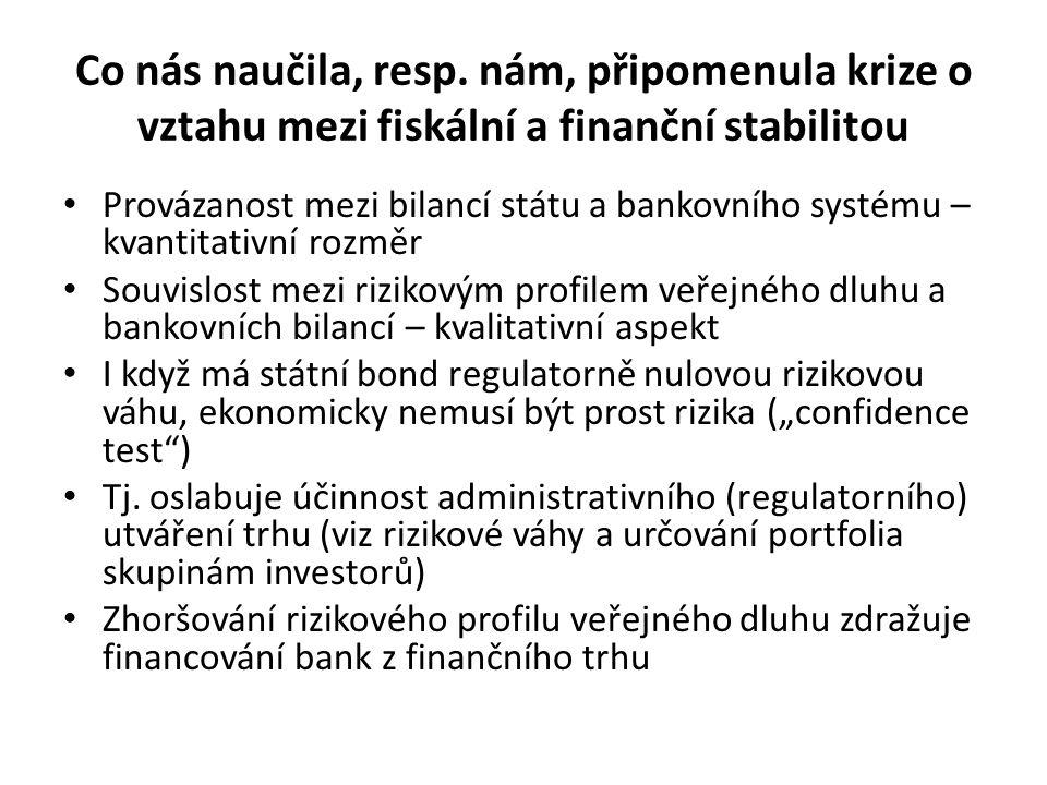 """Zařazení - interakce s měnovou politikou – čím se liší Rozdílné transmisní mechanismy a rozdílné dopady – sektorové, časové : – Sektorově: Měnová politika primárně řeší proporci mezi úsporami a investicemi (a nemá nástroje pro větší """"fine tuning ) Fiskál umožňuje, vedle zásahu do agregátní poptávky, také podrobnější (sektorovou) kalibraci – Časově (transmise): Fiskál: pomalá procedura schvalování ale bezprostřední efekty v době účinnosti Měn."""