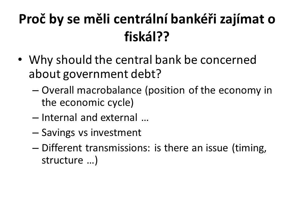Proč by se měli centrální bankéři zajímat o fiskál .