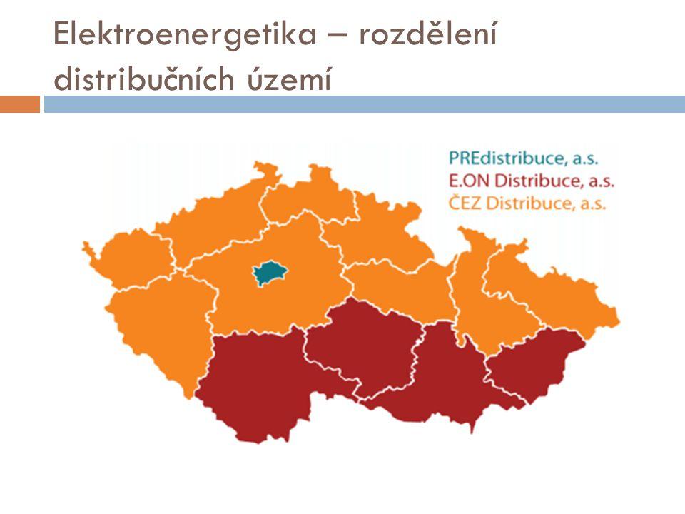 Elektroenergetika – rozdělení distribučních území