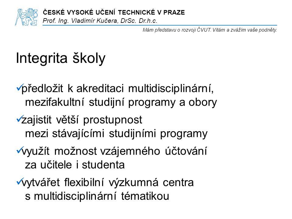 ČESKÉ VYSOKÉ UČENÍ TECHNICKÉ V PRAZE Prof. Ing. Vladimír Kučera, DrSc.