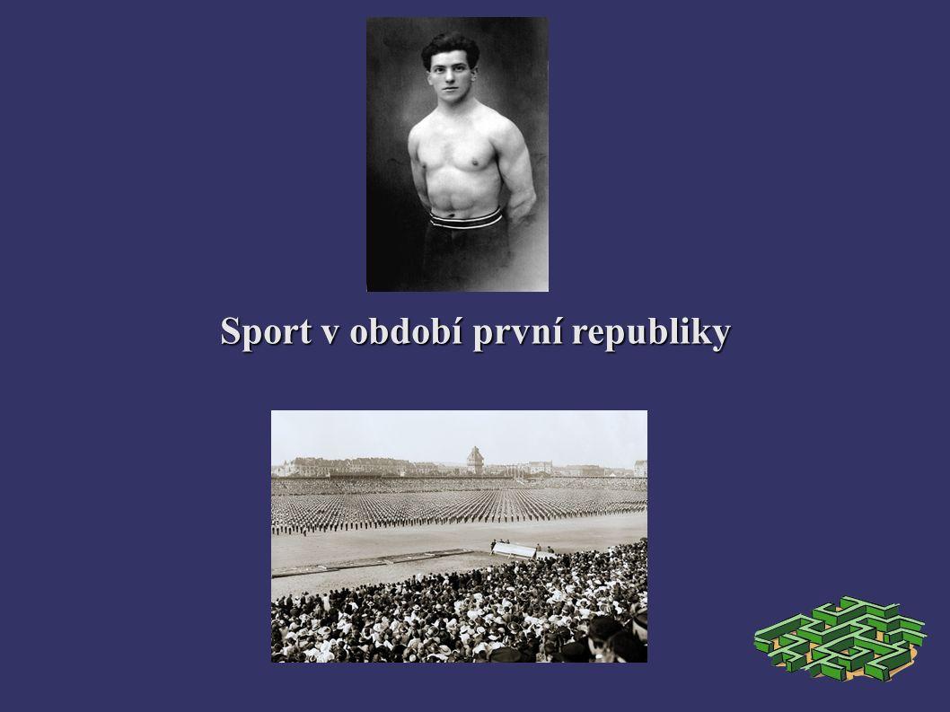 Sport v období první republiky