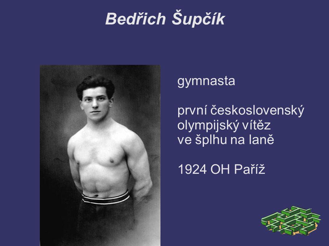 Bedřich Šupčík gymnasta první československý olympijský vítěz ve šplhu na laně 1924 OH Paříž