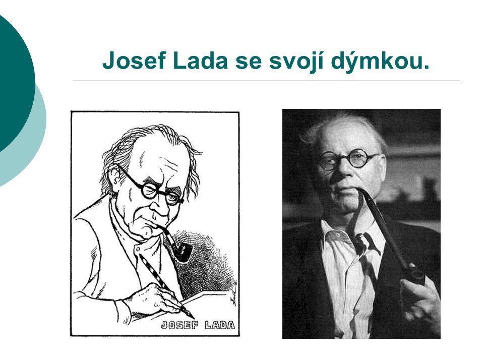 Josef Lada se svojí dýmkou.
