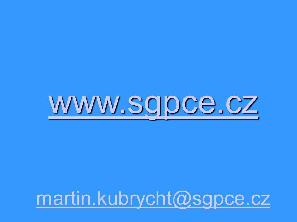 www.sgpce.cz martin.kubrycht@sgpce.cz