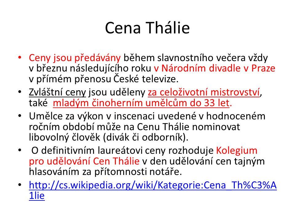 Ceny Thálie - skleněné vázy z dílny Bořka Šípka