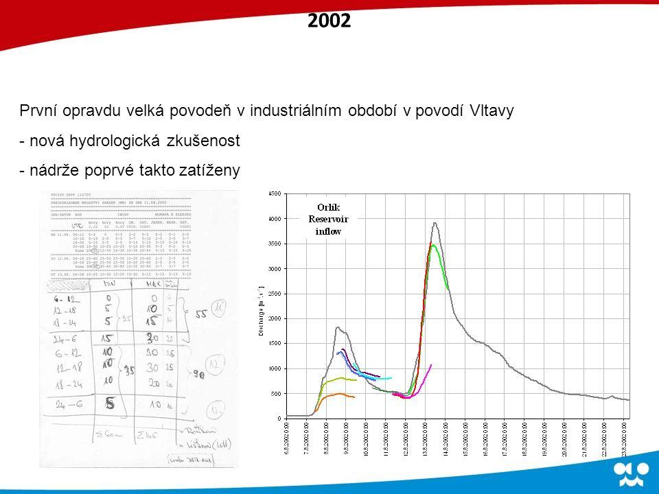 První opravdu velká povodeň v industriálním období v povodí Vltavy - nová hydrologická zkušenost - nádrže poprvé takto zatíženy