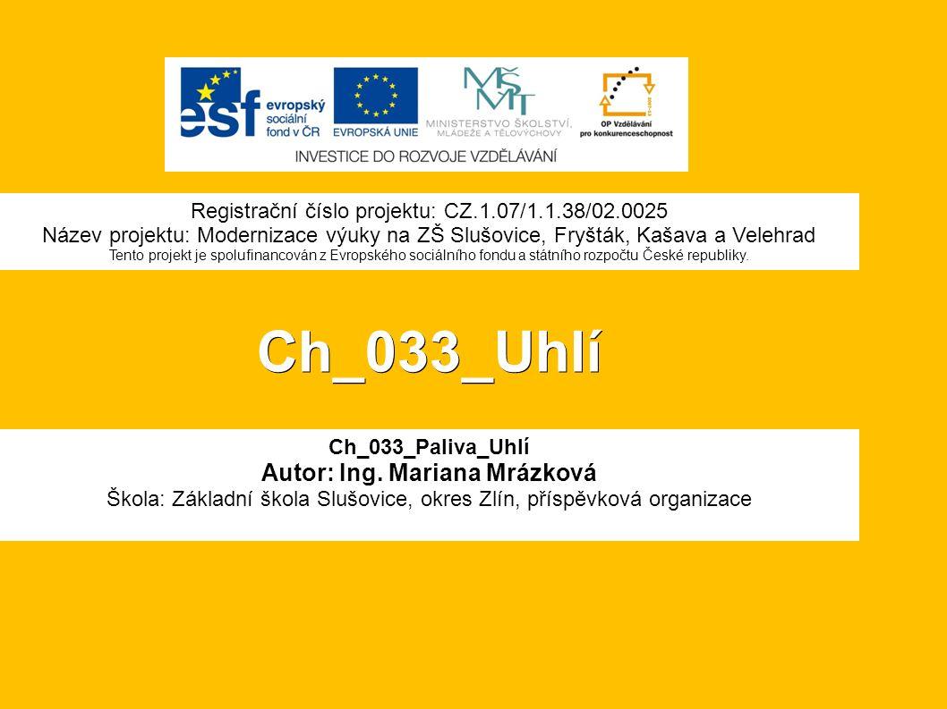 Ch_033_Uhlí Ch_033_Paliva_Uhlí Autor: Ing.