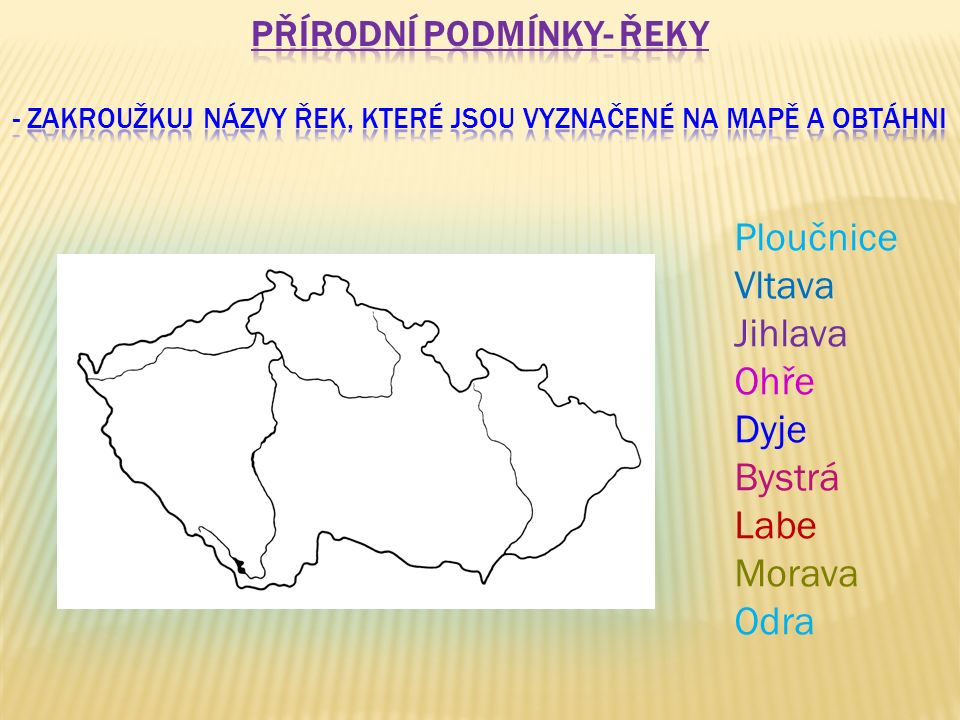Morava Labe Ohře Vltava
