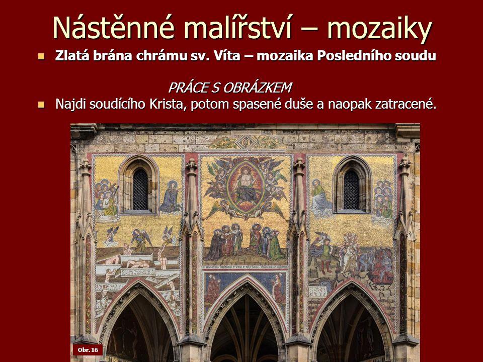 Nástěnné malířství – mozaiky Zlatá brána chrámu sv.