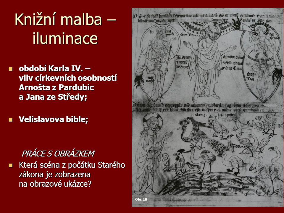 Knižní malba – iluminace období Karla IV.