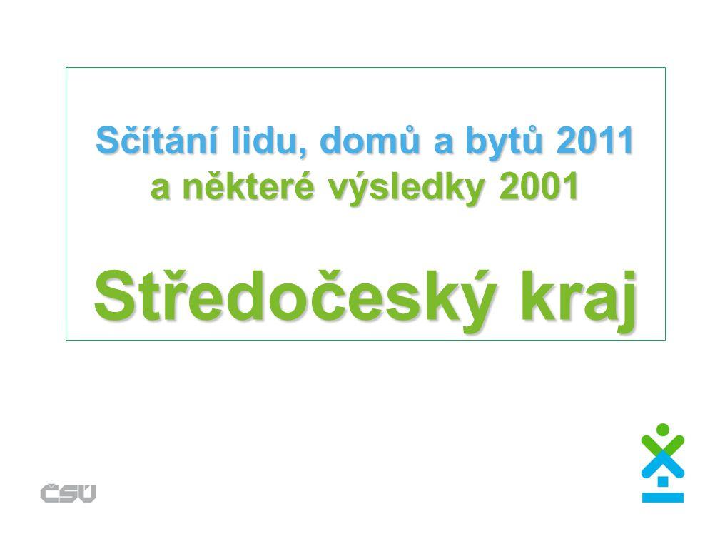 Sčítání lidu, domů a bytů 2011 a některé výsledky 2001 Středočeský kraj