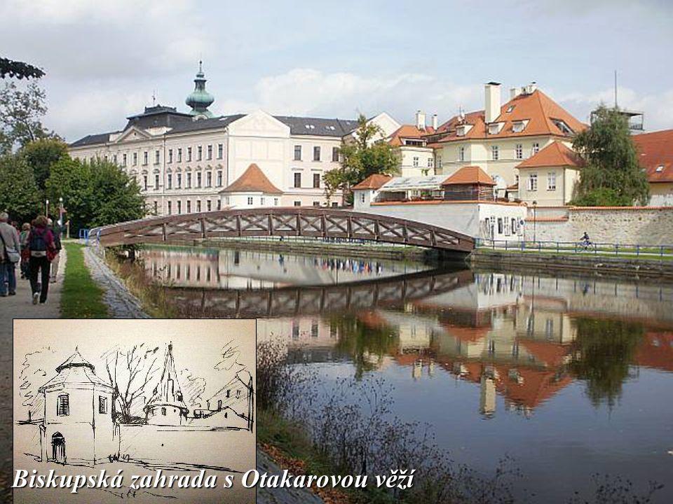 K mnoha dochovaným stavbám kdysi rozsáhlého českobudějovického opevnění patří gotická věž Železná panna.