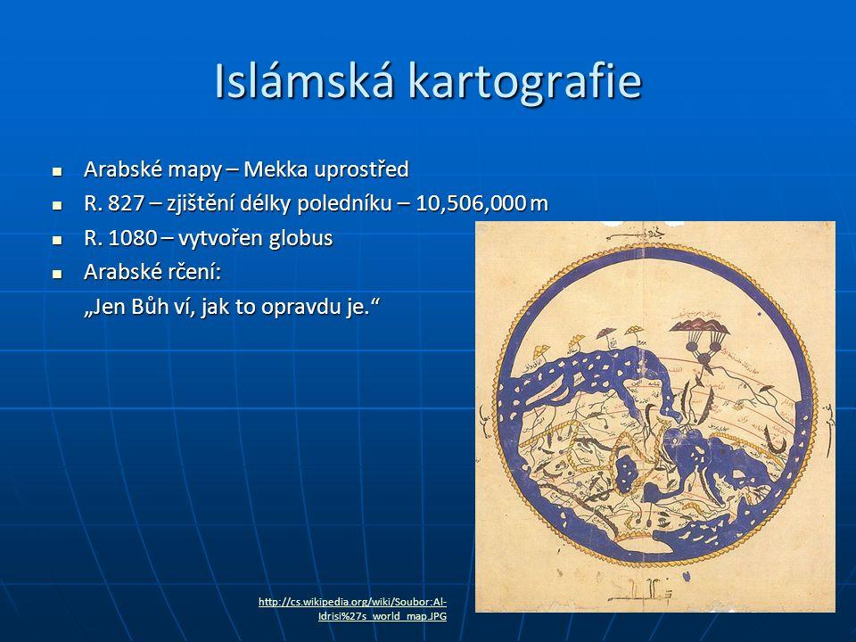 Islámská kartografie Arabské mapy – Mekka uprostřed Arabské mapy – Mekka uprostřed R.
